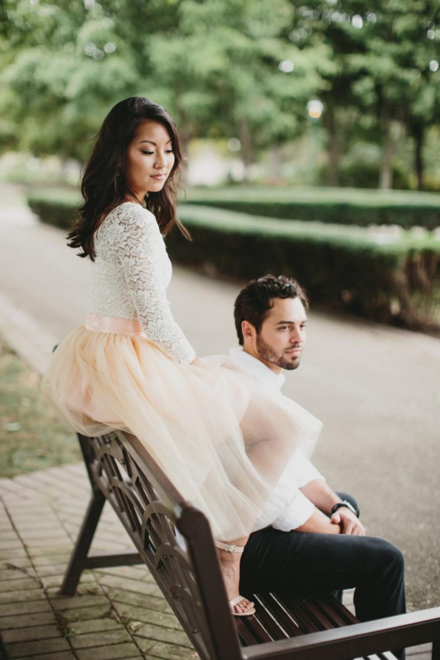 زفاف - Blush Tutu Skirt - Womens Custom Skirt - Bridesmaid Dress  - Skirts by breauxsews - Wedding Party Skirt - Midi Tulle Skirt - Tulle Skirt