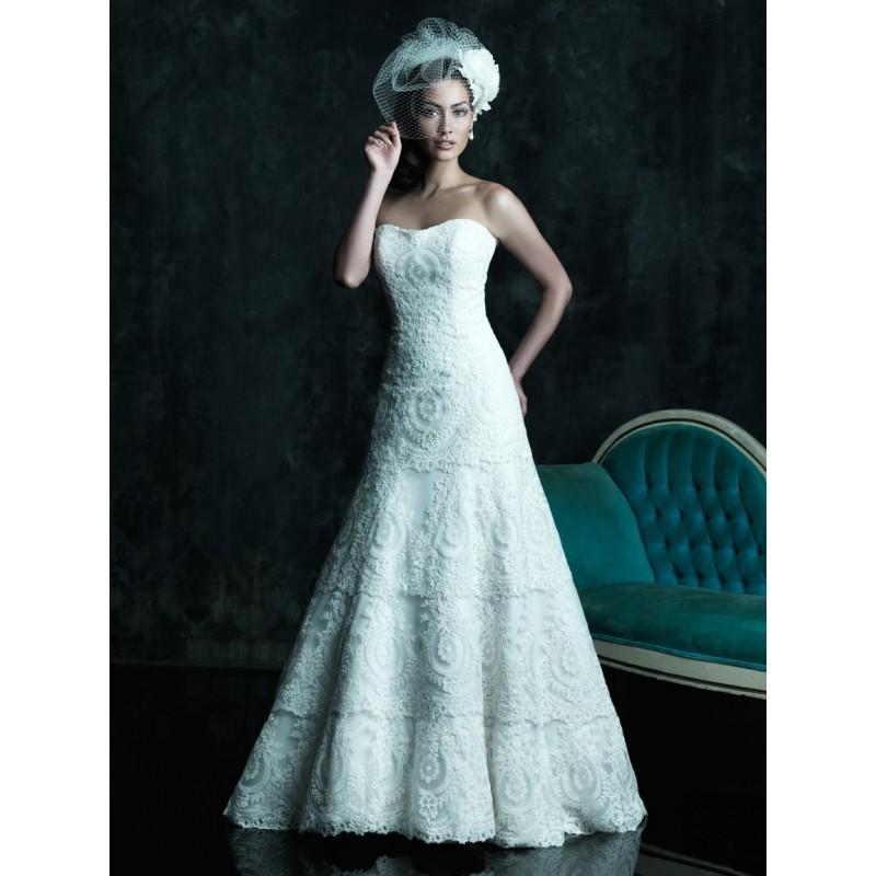 زفاف - Allure Couture C243 Lace A-Line Wedding Dress - Crazy Sale Bridal Dresses