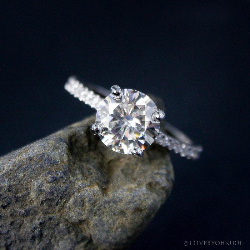 forever brilliant solitaire engagement ring half