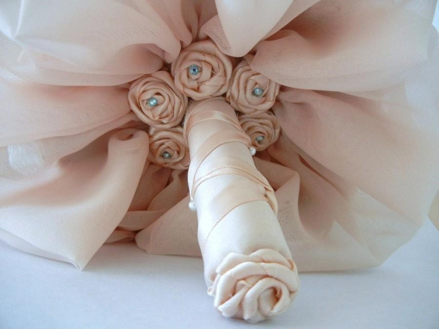 Mariage - Wedding Bouquet, Fabric Bridal Bouquet, Wedding Accessories, Shabby Chic Bouquet