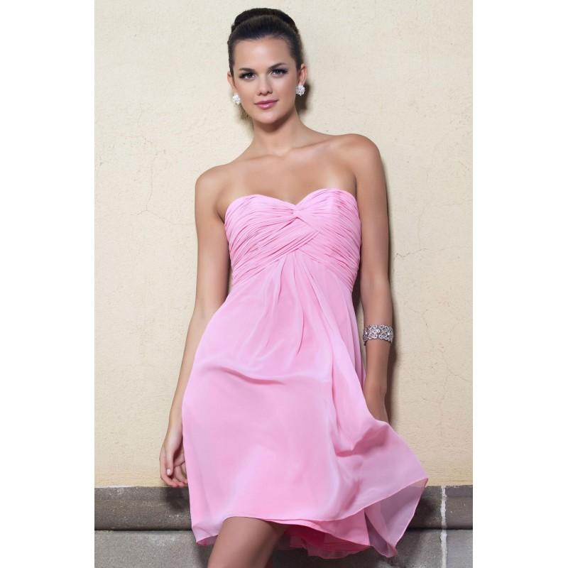 Mariage - Simple A-line Sweetheart Ruching Short/Mini Chiffon Bridesmaid Dresses - Dressesular.com