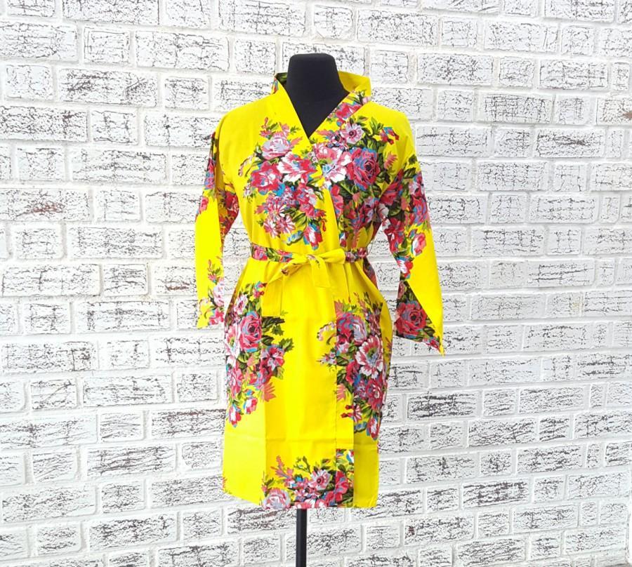 زفاف - yellow bridal robe kimono caftan plus 10 other colors