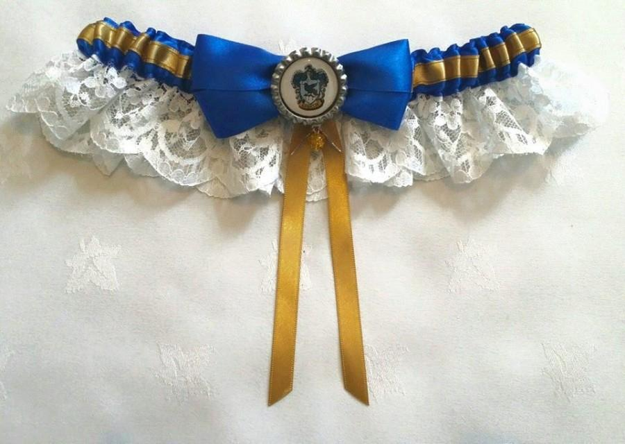 زفاف - Harry Potter Hogwarts, Ravenclaw Satin/Satin and Lace Garter/Garter Set