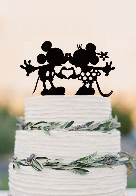 Wedding - Disney wedding cake topper - Custom Wedding Cake Topper - Mickey & Minnie Cake Topper - Wedding Decoration