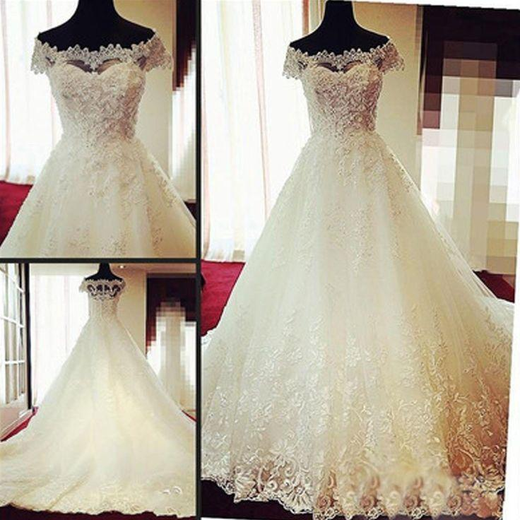 1c224eb65 Gorgeous Off Shoulder Cap Sleeve Vantage Lace Wedding Party Dresses, Dresses  For Wedding, WD0004