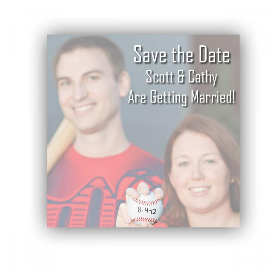 Hochzeit - Save The Date Sticky Notes, Baseball Post It Notes, Photo Save the Date, Personalized Post It Notes, Custom Notepads, Arizona Wildcats