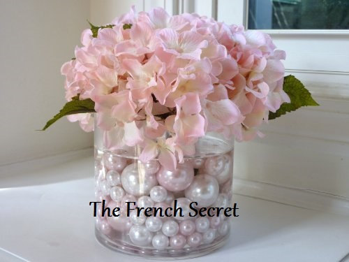 Chic Wedding Blush Pink & Pearl Vase Filler Floral Centerpiece ...