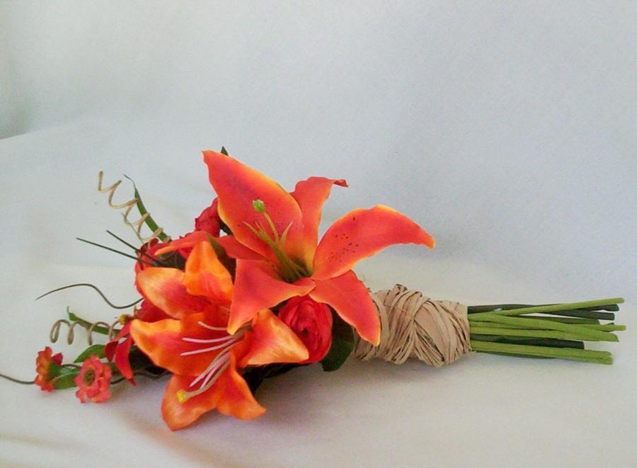 Wedding Fall Destination Wedding Flowers Orange Tiger Lily Bridal
