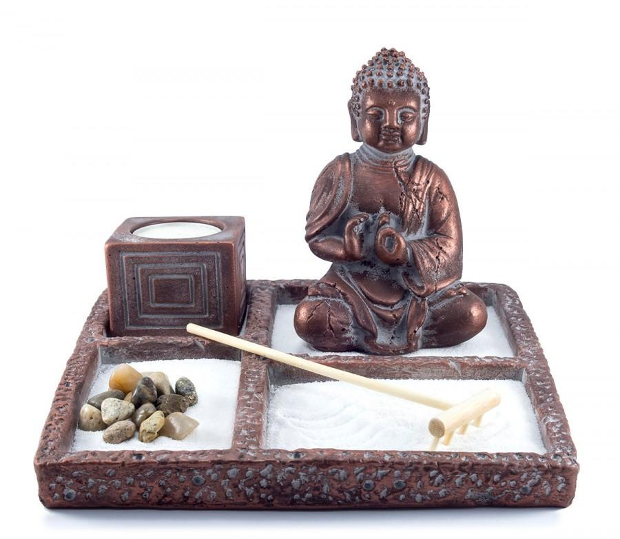 zen garden  buddha statue  mini zen garden  office decor  gift, Garden idea