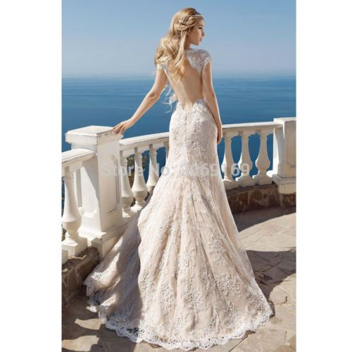 Wedding - White Ivory Mermaid Wedding Dress Bridal Gown