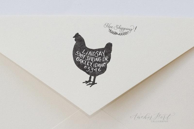 Свадьба - Address stamp