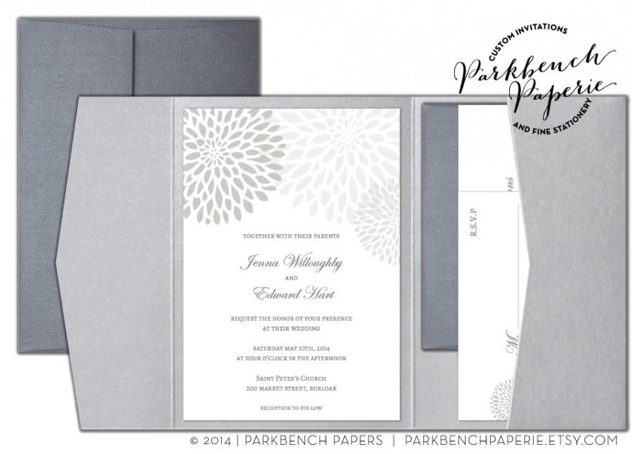 Editable Wedding Invitation, RSVP Card, And Insert Card- Pocket Fold ...