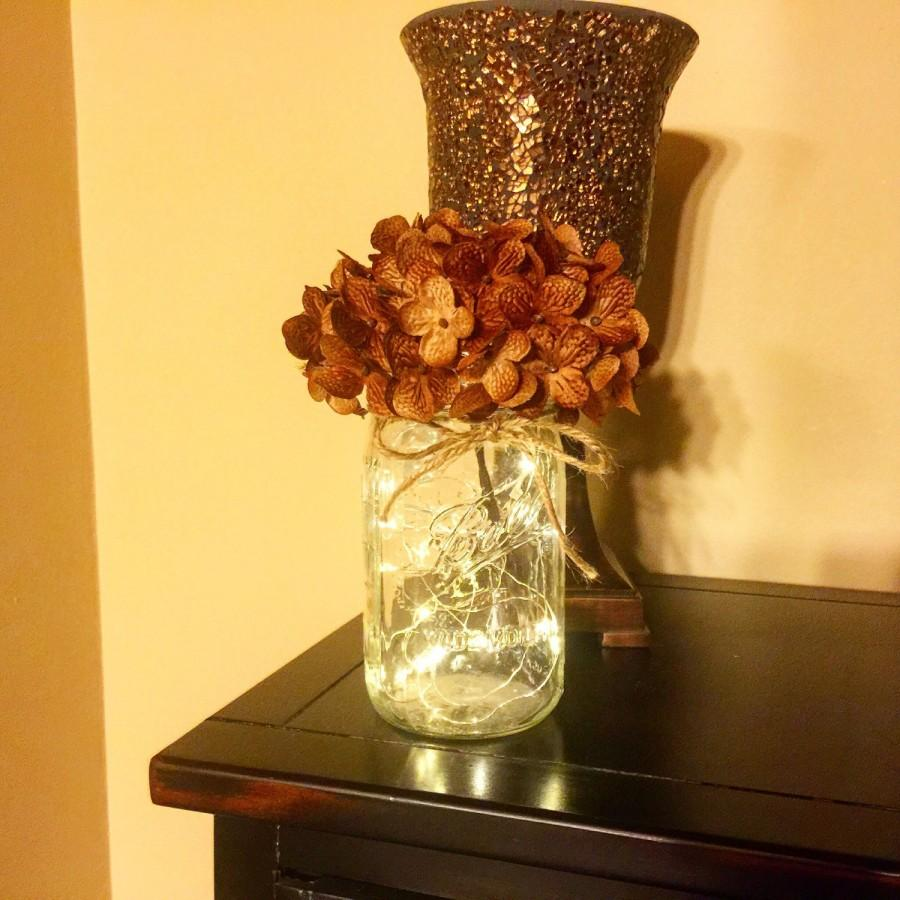 Mason Jars, Mason Jar With Lights, Firefly Lights, Mason Jar Decor ...
