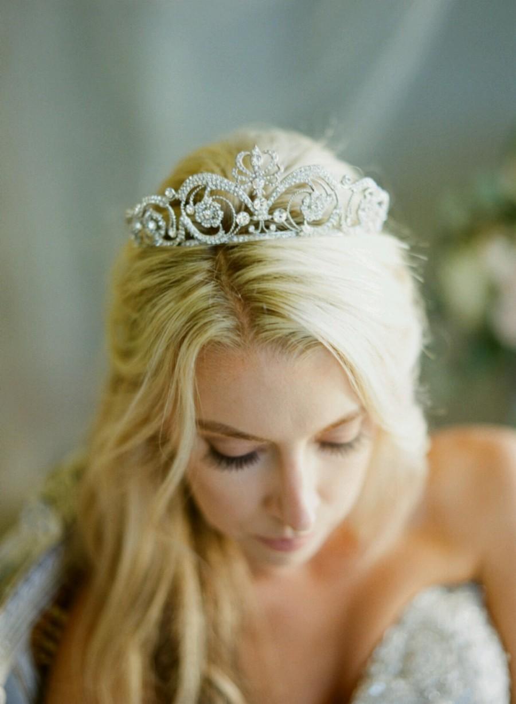 Mariage - Bridal Tiara Crystal Tiara - MEG, Swarovski Bridal Tiara, Crystal Wedding Crown, Rhinestone Tiara, Wedding Tiara, Diamante Crown