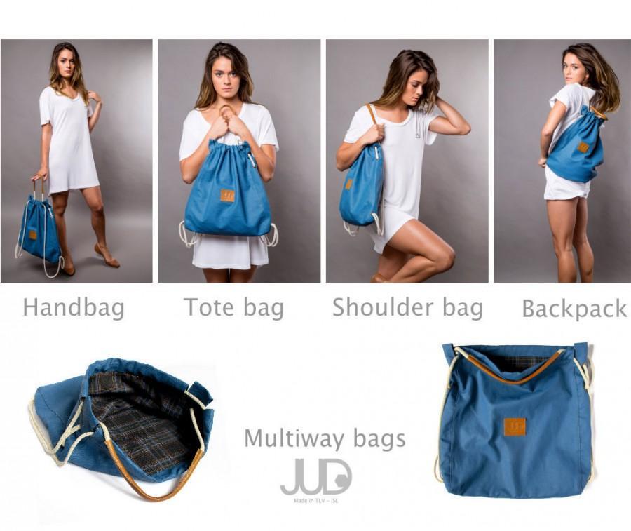 زفاف - Womens backpack purse - multi bag - sack bag SALE - tote bag- waterproof rucksack- backpacks- gift for her- women fashion backpack