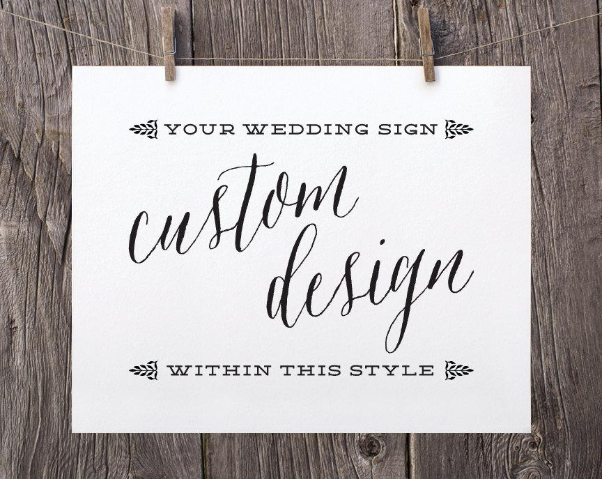 Mariage - Custom Wedding Printable Sign, Custom Wedding Sign, Black Navy Faux Gold Silver Custom Color Wedding Reception Sign WS1BP WS1NP WS1GP WS1SP