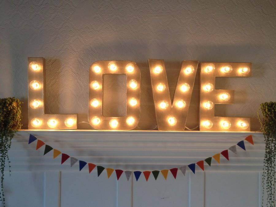 Mariage - Marquee LOVE SIgn