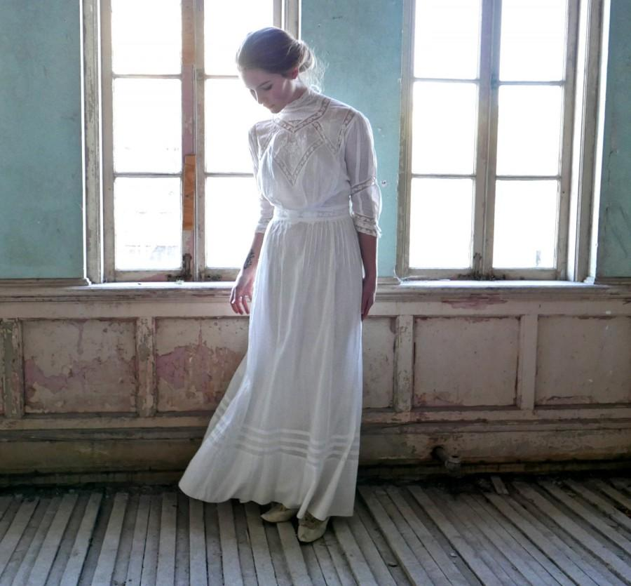 Mariage - Edwardian Ready Made Lingerie Dress Made by The Waldorf Size XS
