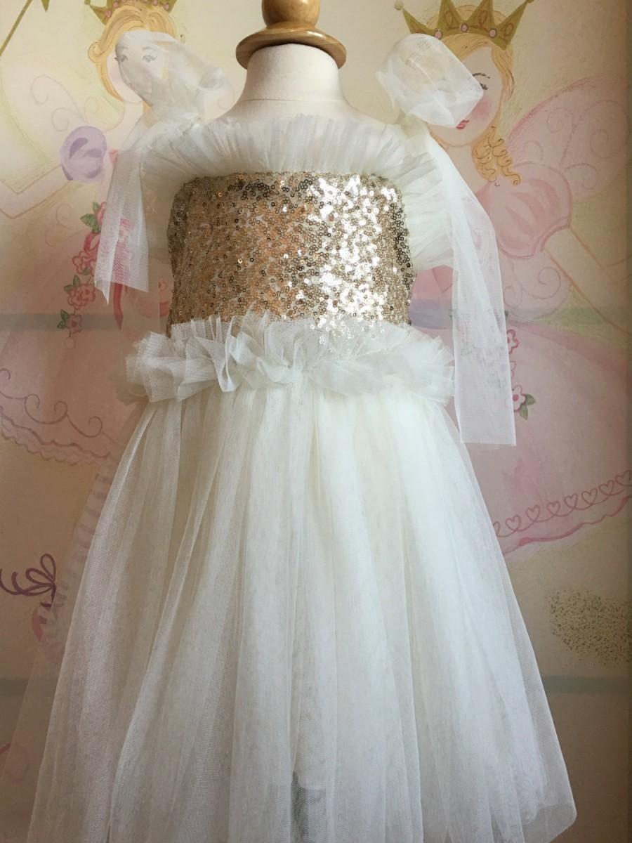 Ivory Flower Girl Dress Flower Girl Tutu Dress Infant Flower Girl
