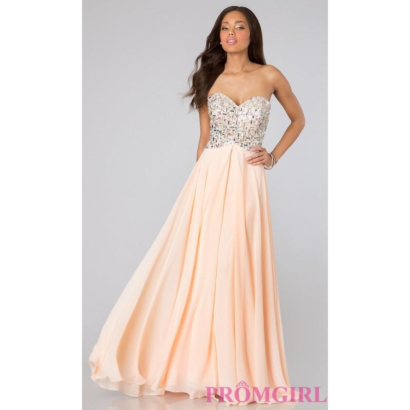 Boda - Floor Length Strapless Sweetheart Dress - Brand Prom Dresses