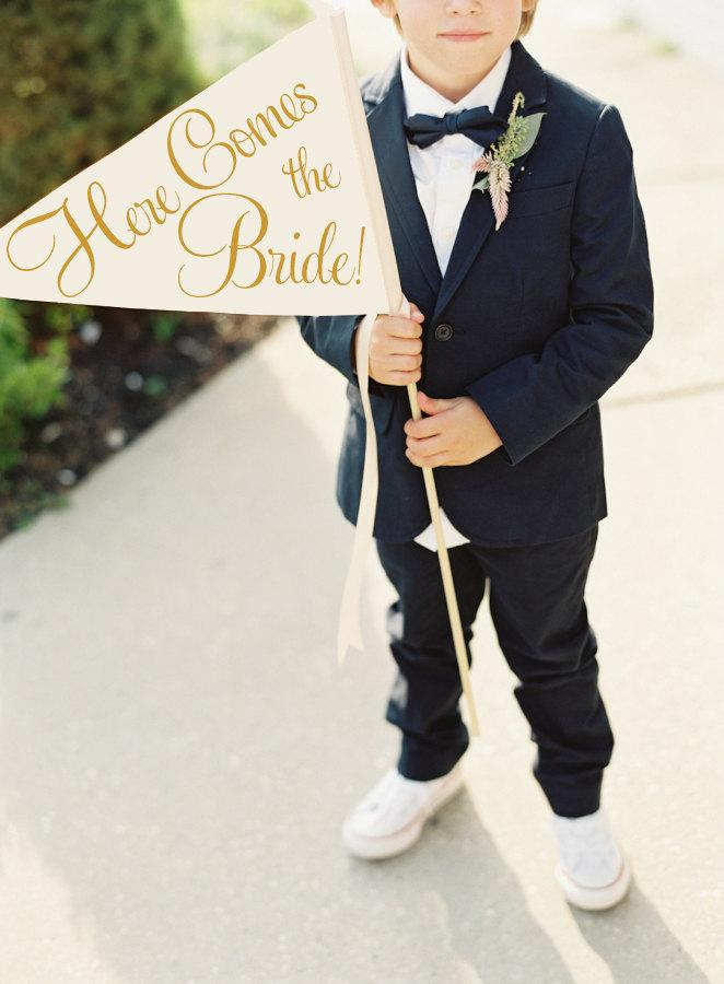 Mariage - Here Comes The Bride Sign