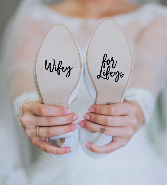5315acdde6f Wifey for Lifey Wedding Heels Shoes Decal Sticker Something Blue Bride FREE  SHIPPING
