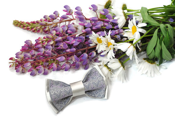 Hochzeit - Wedding bow tie Bowtie for men Lavender wedding Groom's necktie Groomsmen ties Men's bow ties Christening boy's outfit Satin 7Accessories482