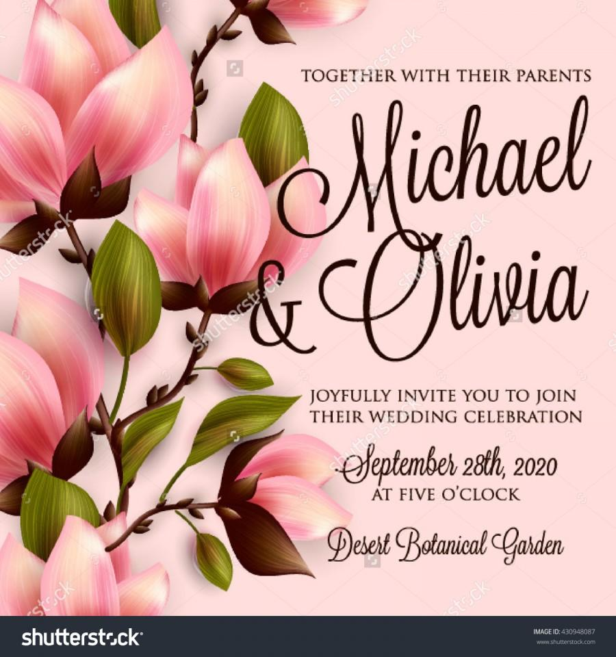 Wedding - Magnolia wedding invitation template