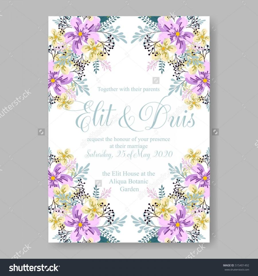 Свадьба - Wedding invitation or card with tropical floral background. Greeting postcard in grunge retro vector Elegance pattern with flower rose illustration vintage chrysanthemum Valentine day card Luau Aloha