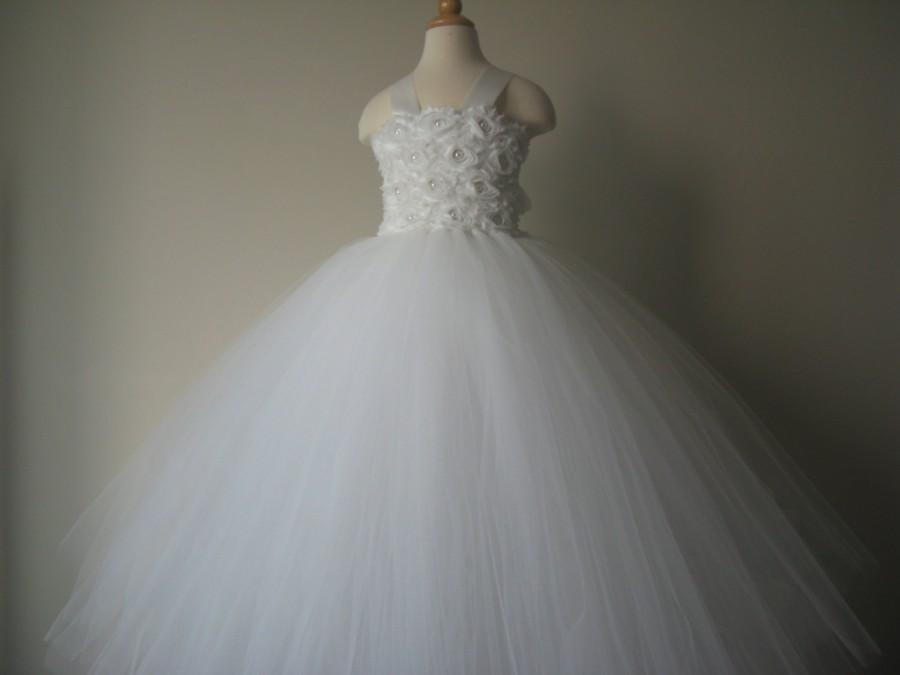 Mariage - Flower Girl Tutu Dresses  Wedding Dress Toddler Tutu Dresses Girls Special Occasion Dresses 1T 2T 3T 4T 5T