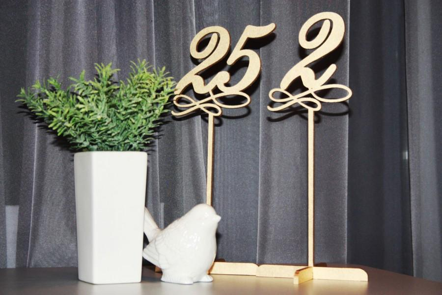 Mariage - Table Numbers.Gold Table Numbers. Table Numbers with base.