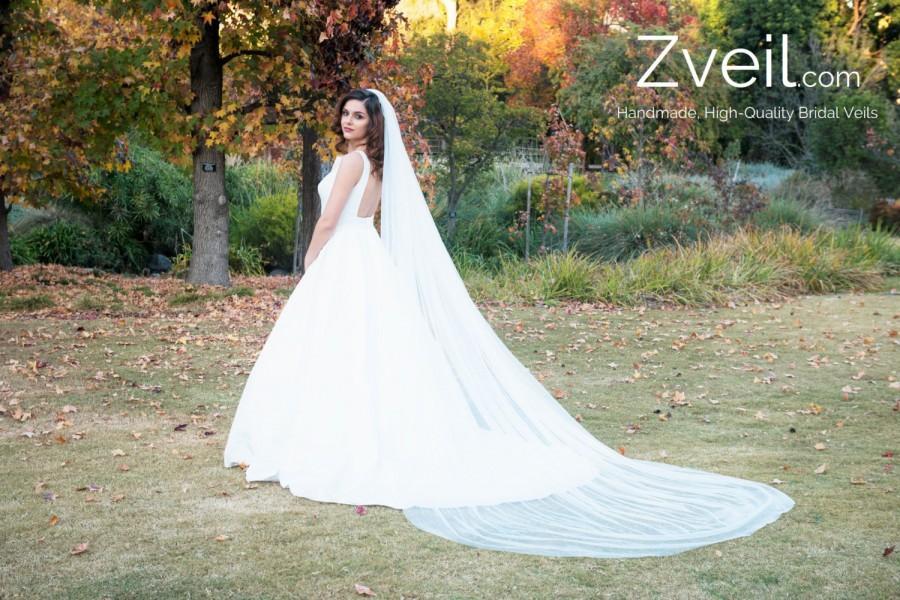 Hochzeit - Plain Cathedral Length Wedding Veil