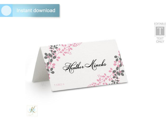 Mariage - Wedding Place Card Template (Tent)