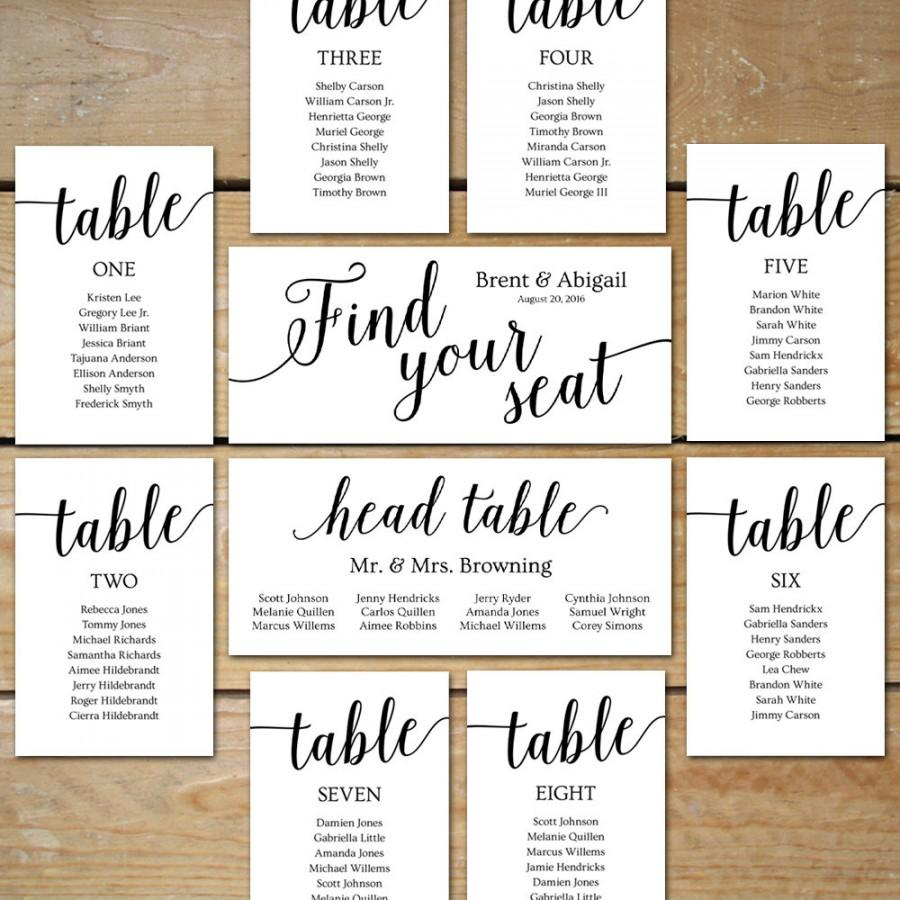 Wedding ceremony seating chart template 2