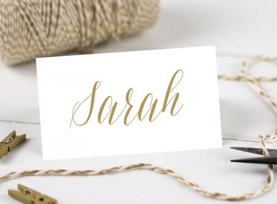 زفاف - Personalised Printable, Wedding Place Cards,Name Cards - Gold Script Collection