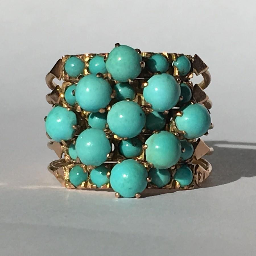 gold il fullxfull turquoise stacking listing zoom ring rings
