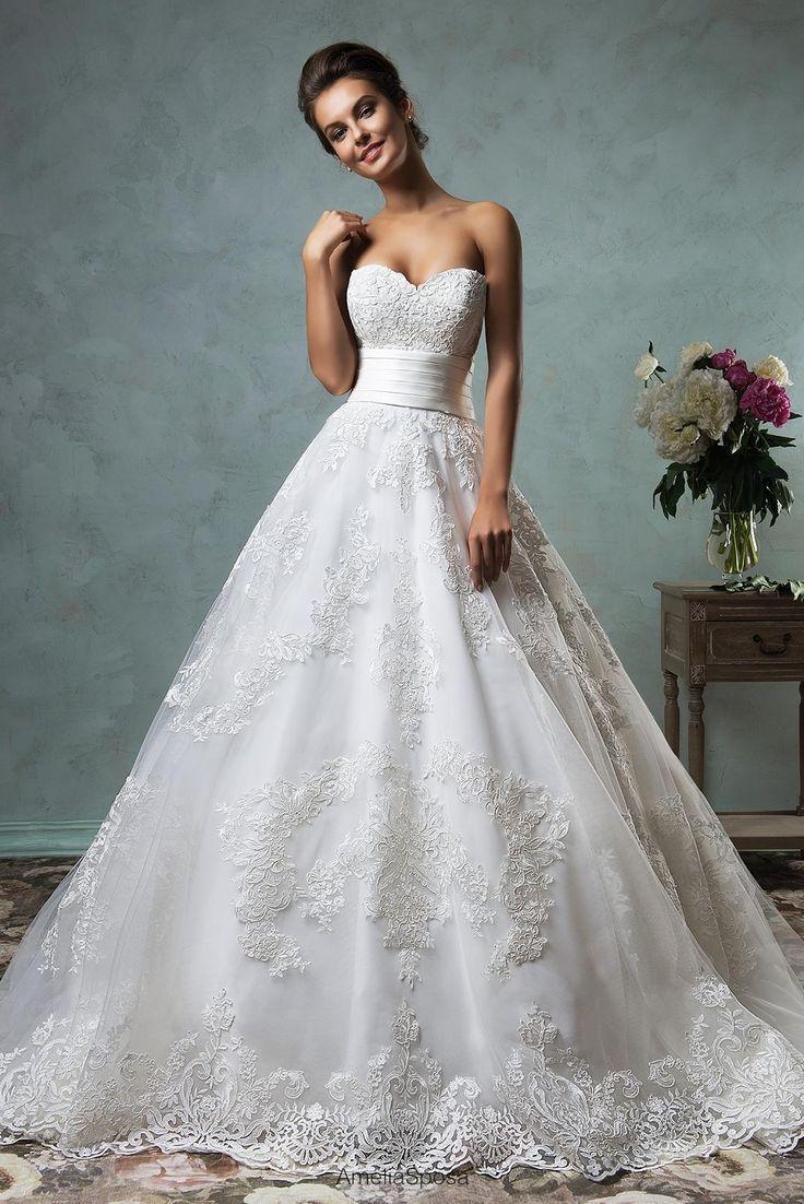 Boutique Dresses Amelia Sposa 2016 Strapless Wedding Dresses ...