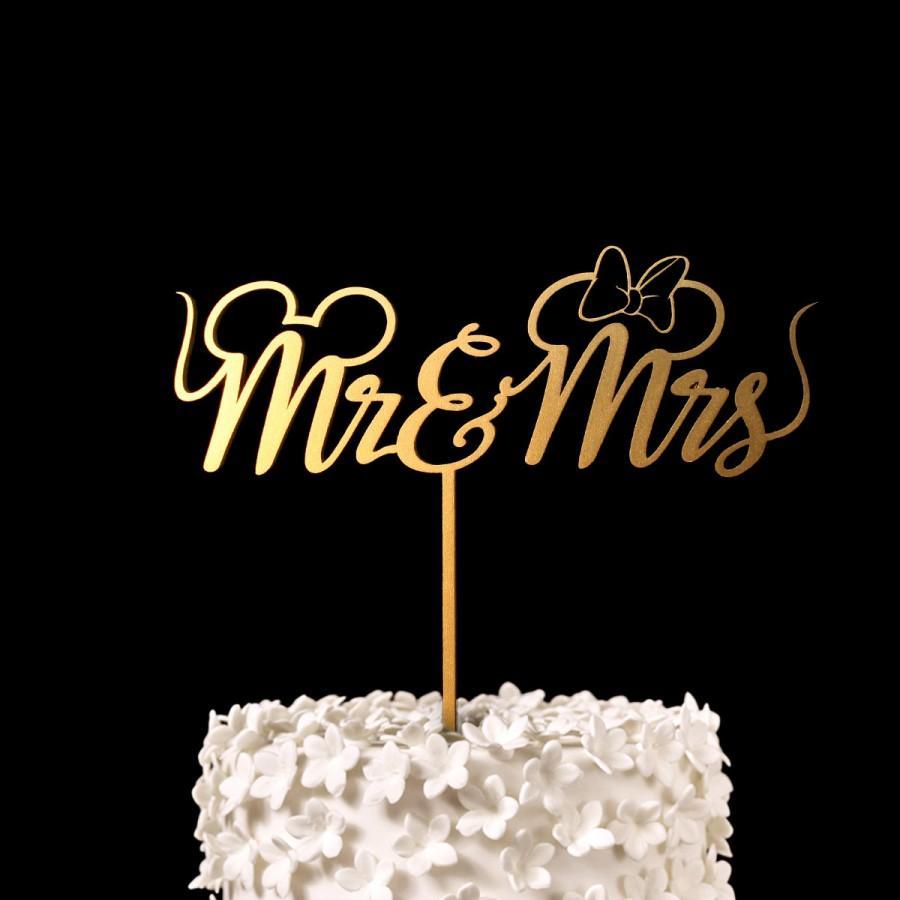 Mariage - Mr & Mrs Disney Wedding Cake Topper -  Keepsake Wedding Cake Toppers
