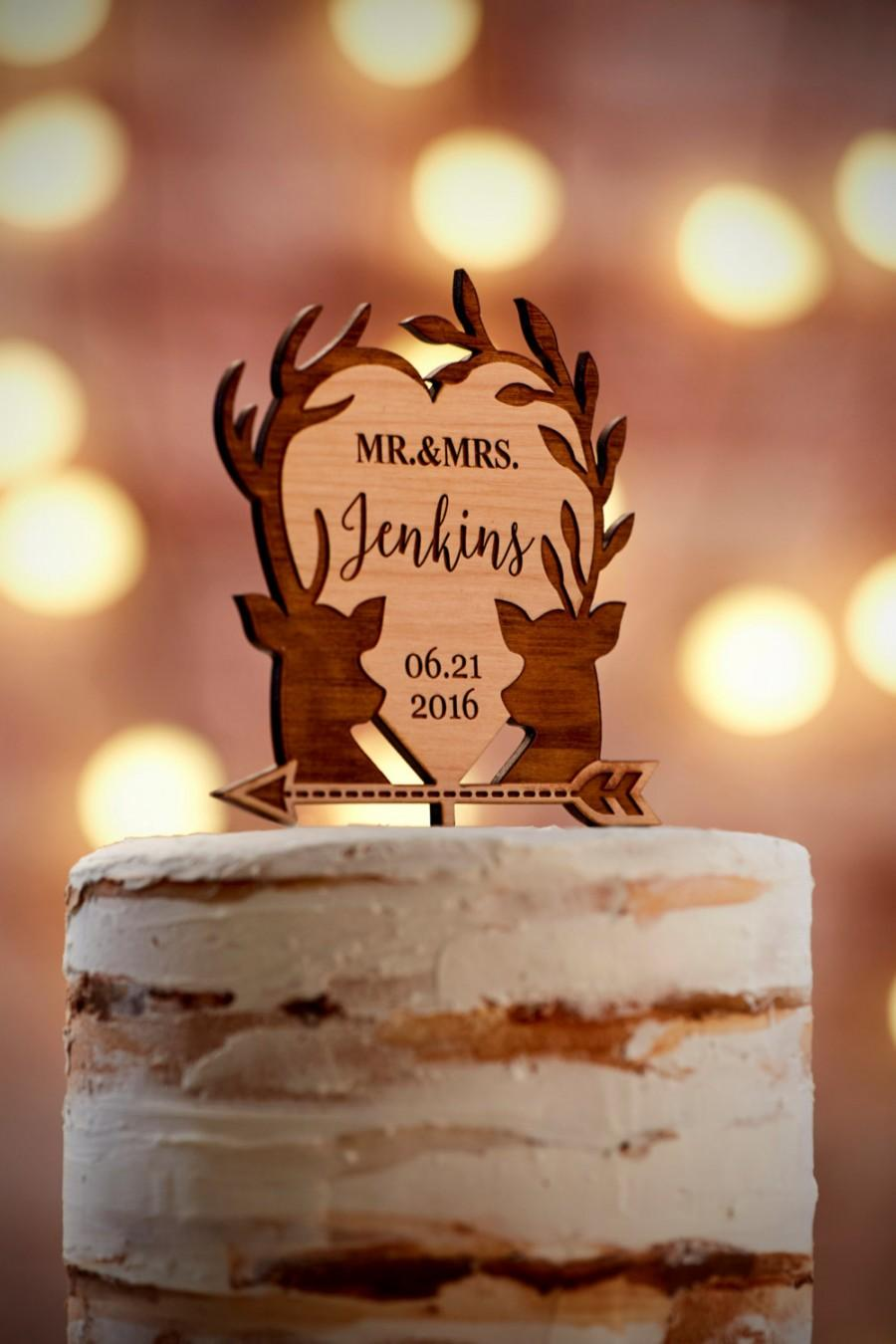 Mariage - Personalized Wedding Cake Topper