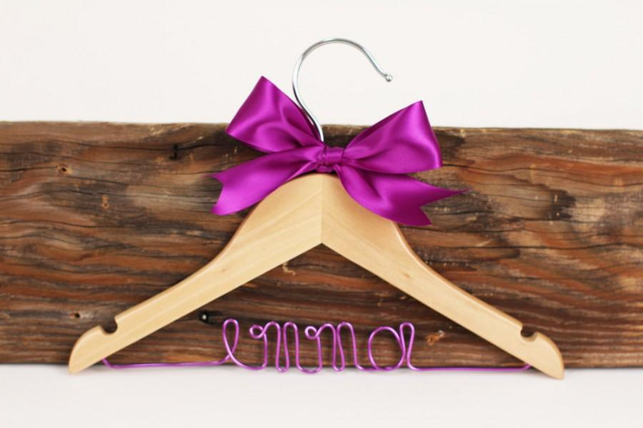 Mariage - SALE Child's Personalized Wedding Hanger/ Flowergirl Hanger/Baby Shower Gift/47 ribbon colors