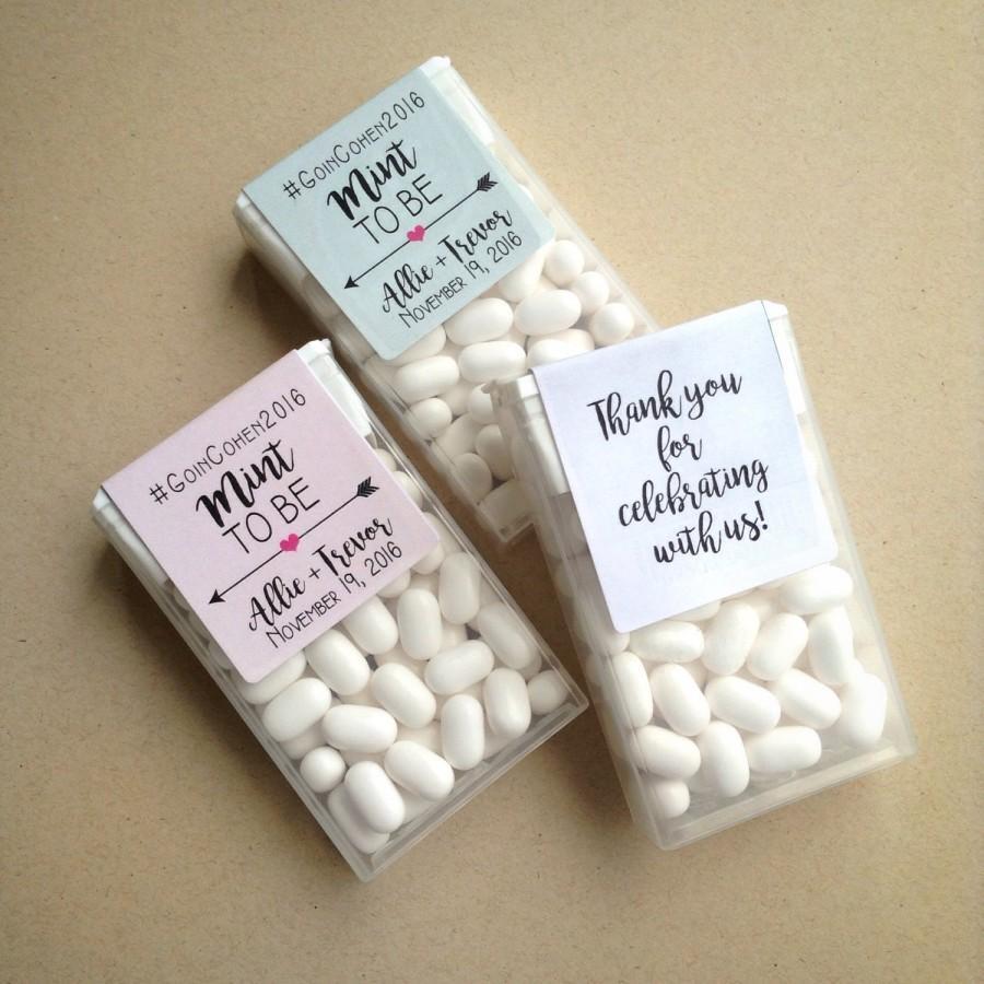 Wedding - Wraparound Mint to Be Tic Tac Favor LABELS • Tic Tac Labels • Favor Label • Mint To Be • Shower • Mint to Be Favor Labels • Labels • Mints