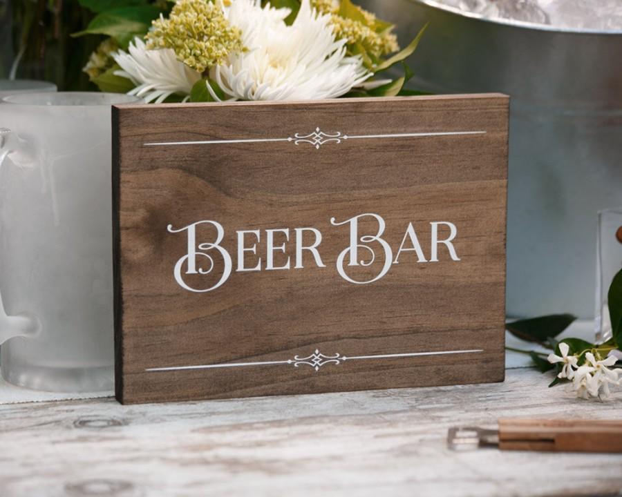 """زفاف - Rustic Chic """"Beer Bar"""" Wood Sign for your Western, Outdoor, Garden or Urban Wedding, Anniversary, Birthday, Holiday Party, or Housewarming"""