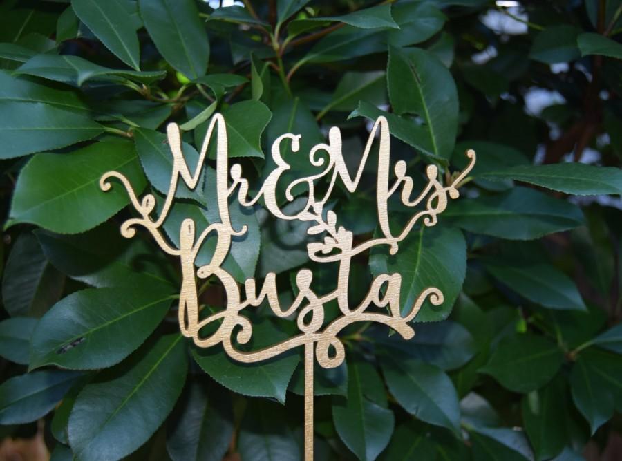 زفاف - Personalized MR&MRS Wedding Cake Topper, Wedding Cake Decor, Anniversary - Bridal Shower - Wedding Gift, Valentine Day Cake Topper