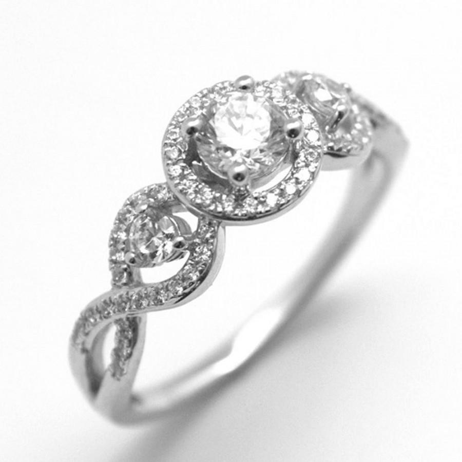 Hand crafted engagement rings - Diamond Unique 9ct Gold Fancy 1920s Style Round Brilliant Hand Crafted Engagement Ring 43839