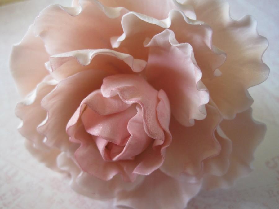 Wedding - Pink Sugar Peony Wedding Cake Topper
