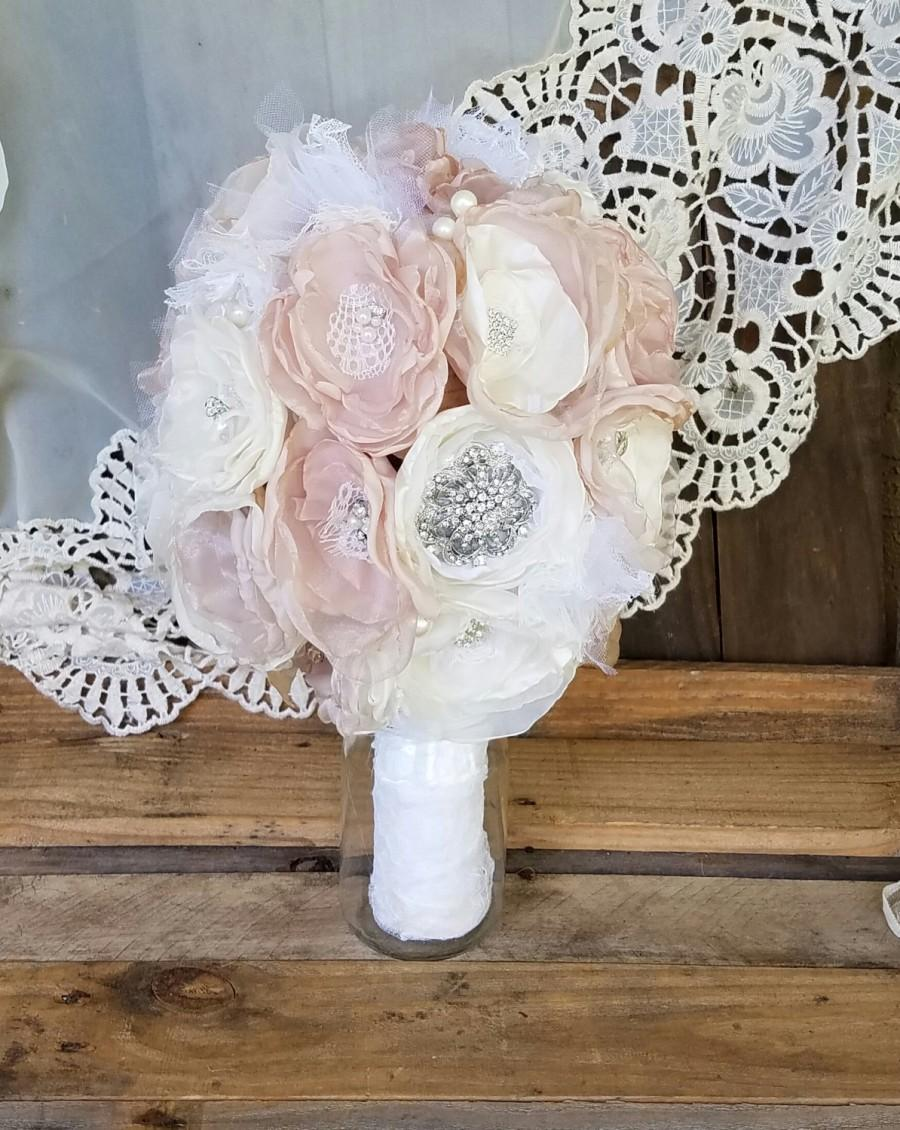 Bridal Brooch Bouquet Wedding Bouquet Fabric Brooch Bouquetfabric