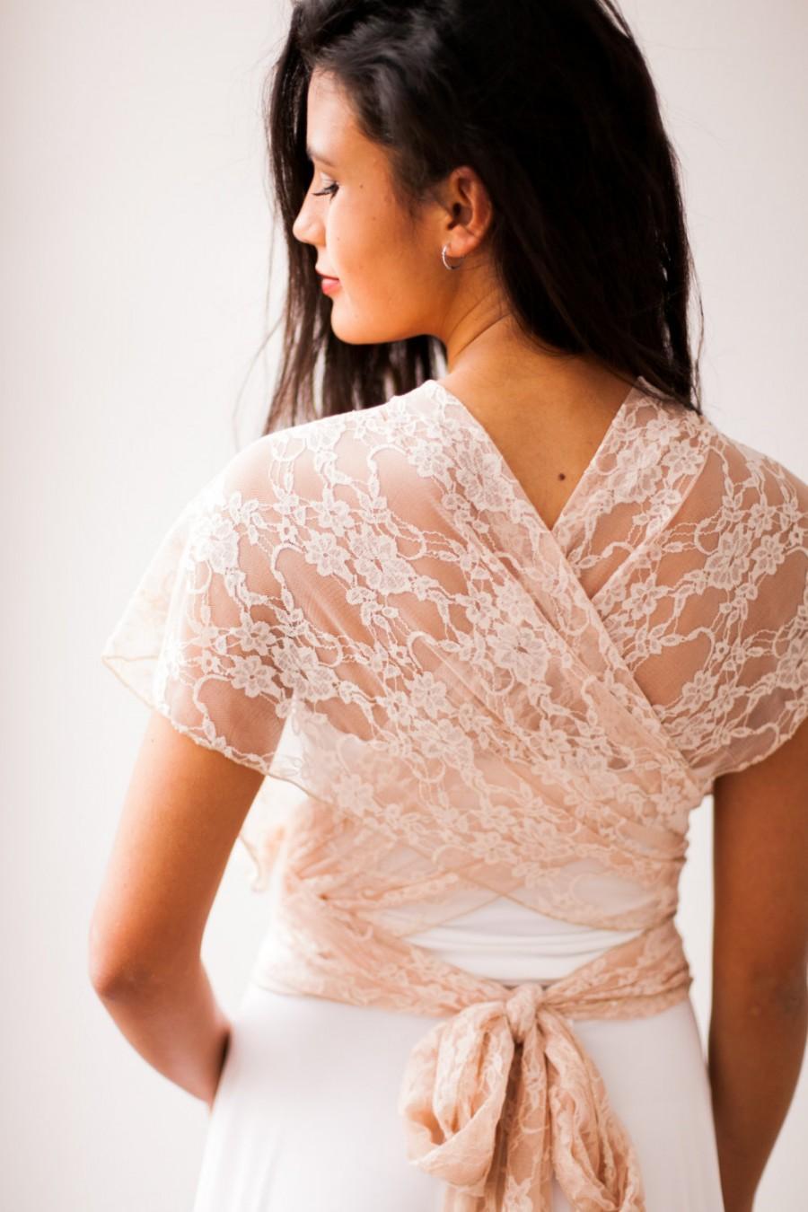 Wedding - Bridal gown lace wedding dress, romantic wedding dress, boho infinity dress, infinity lace dress, rustic wedding gown, lace wedding dresses