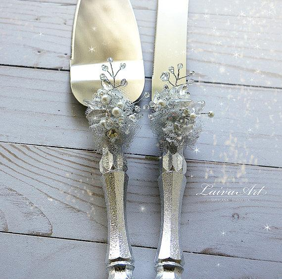 Hochzeit - Silver Wedding Cake Server Set & Knife Cake Cutting Set Wedding Cake Knife Set Wedding Cake Servers Wedding Cake Cutter Cake Decoration