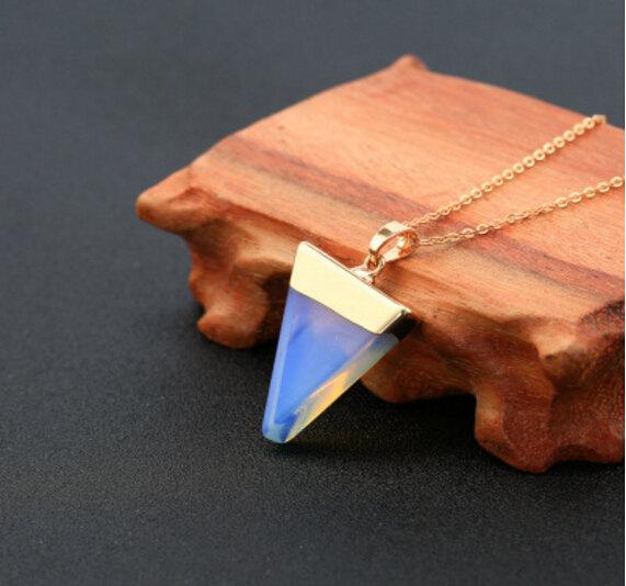 Свадьба - Opalite Pendant Handmade Jewelry Stone Jewelry Handmade Pendant Stone Pendant Necklace Holiday Gift Opalite Pendant Opalite Necklace Opalite