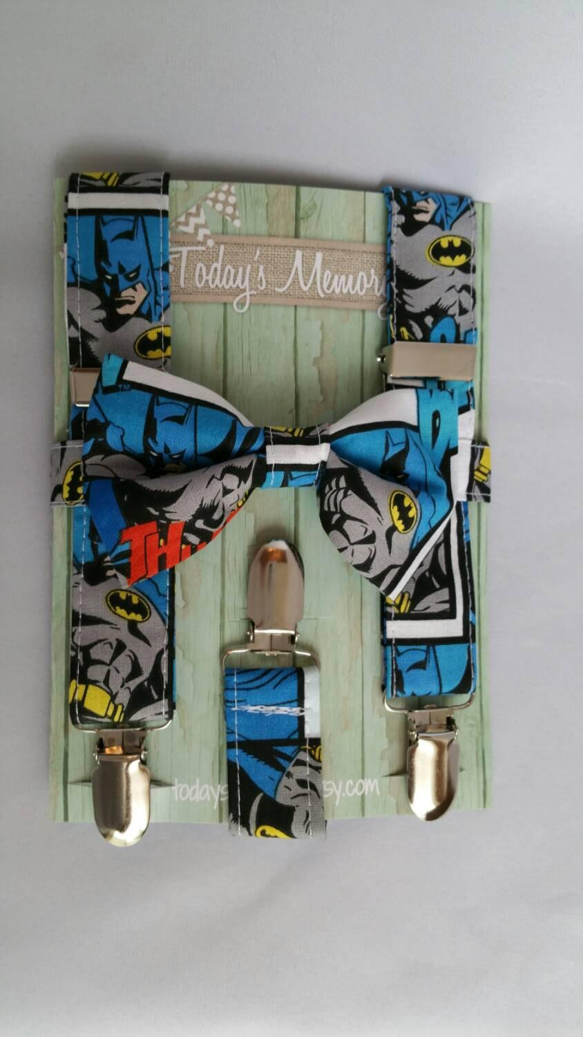 Wedding - Batman bow tie and suspenders set for baby,toddlers,kids,teens and adults